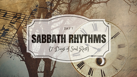 My friend and her family have decided to observe the Sabbath (called Shabbat in Hebrew) more formally and make this longer pause a part of the rhythm of their lives.  Here is a bit of her experience.