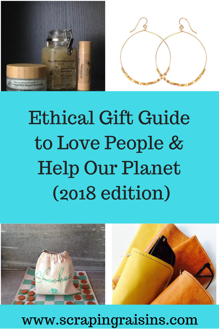 Ethical gift guide to love people and help our planet (2018 edition). Come here for your Christmas shopping to support ethical, fair trade, sustainable, and green companies. #ethicalcompany #ethicalgifts #ethicalconsumer #sustainable #fairtradegifts #Christmasgifts #giftlist #Christmasgiftlist #ethicalgiftlist
