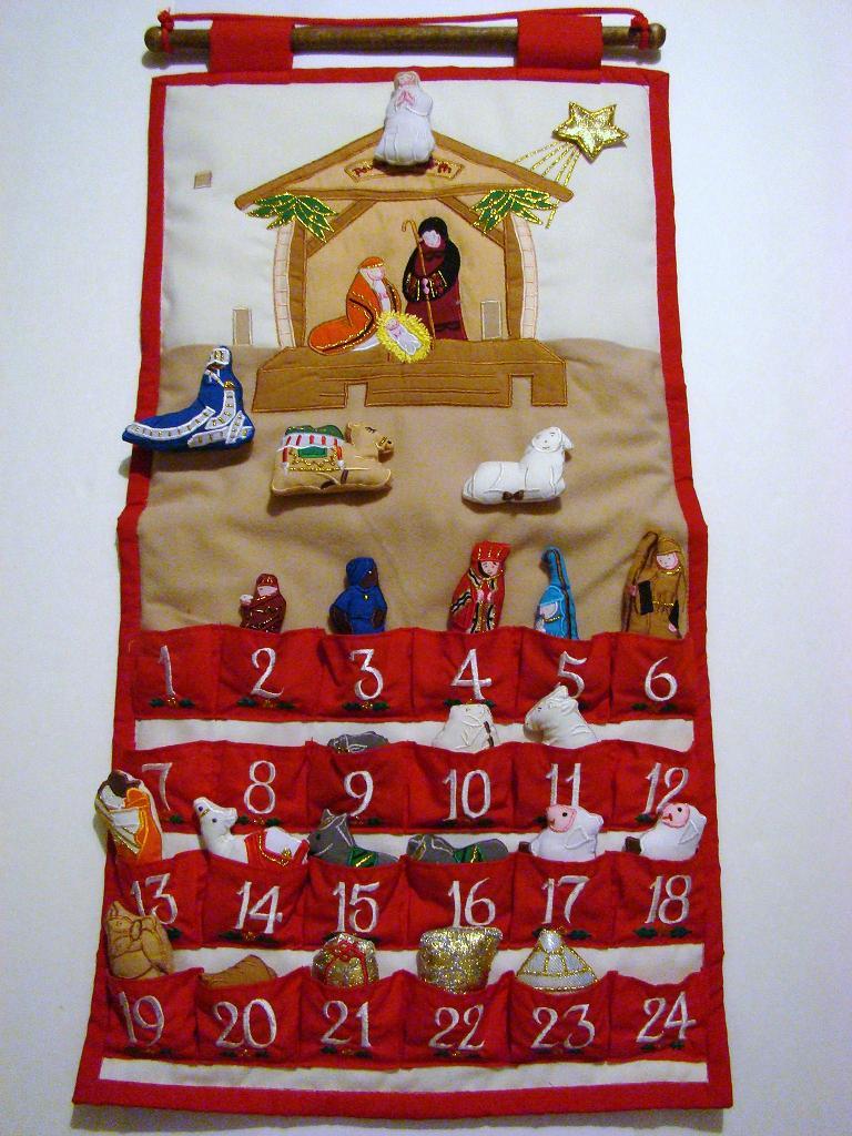 Cloth Advent Calendar Pockets